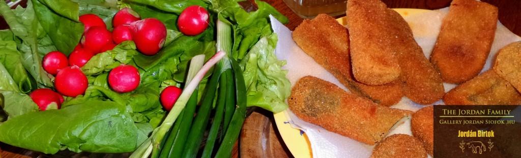 Házi zöldség ebéd