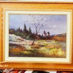 Őszi táj festmény